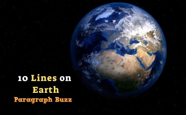 10 Lines on Earth in English