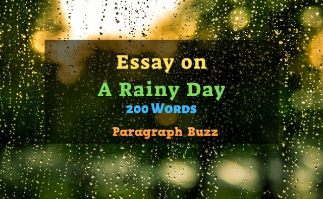 A Rainy Day Essay