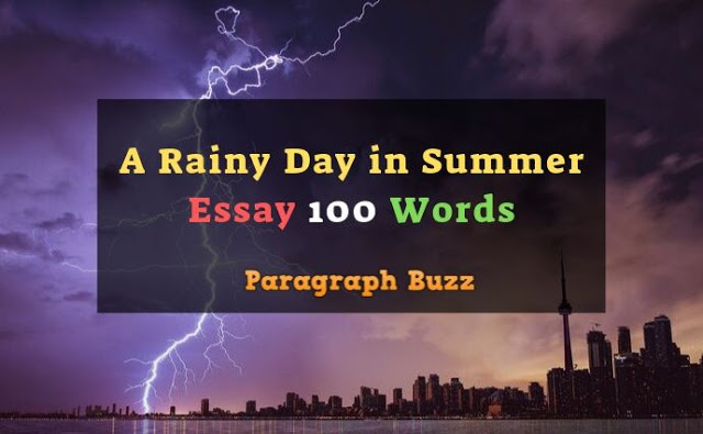 A Rainy Day in Summer Essay 100 Words