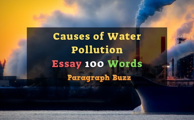Causes of Water Pollution Essay in 100 Words