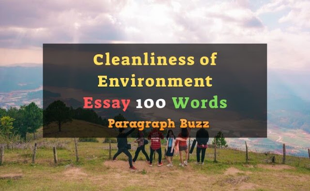 Essay on Cleanliness of Environment 100 Words